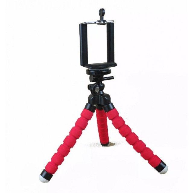 Tripé Flexível MTG-023 16cm Para Celular - Tomate - Foto 4