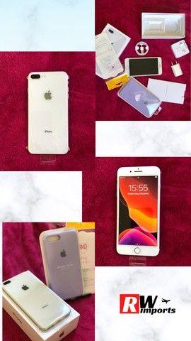 Iphone 8 plus Desbloqueado 64gb Silver - Troco em Iphones superiores - Foto 6
