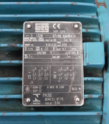 Motor WEG 12,5 CV - Foto 3