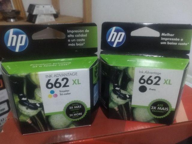 Cartucho HP 662xl Black e cartucho HP 662xl Color