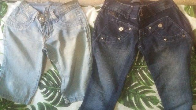 Lotinho de calcas jeans femeninas 150,00 - Foto 3