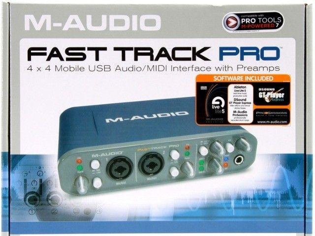 Interface M-audio Fast Track Pro com caixa original  - Foto 2