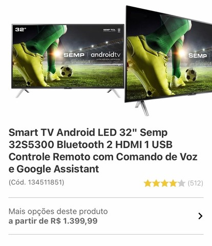 Smart Tv Android led 32p