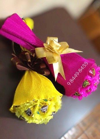 Buquê chocolate para dia dos namorados  - Foto 3