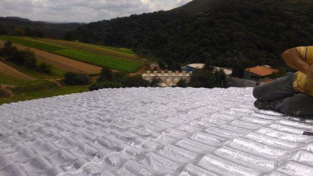 Impermeabilização de Telhados e Lajes - Manta aluminio e PU
