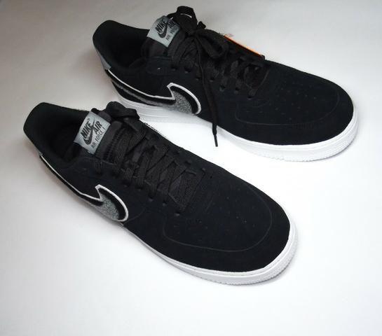 3a7bacfa61adfe Nike air forece 1 07 LV8 chenille swoosh Black
