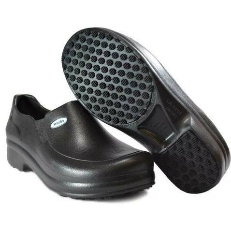 ba58c7cf27c Sapato Antiderrapante Profissional Epi Soft Works Bb65 Preto e Branco