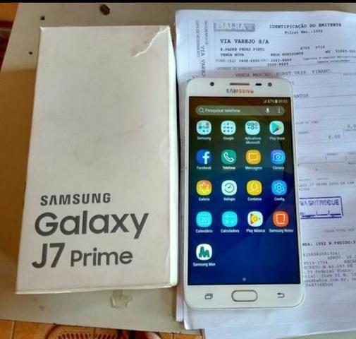 65d5672ac Vendo ou troco Samsung J7 Prime de 32 GB novo na caixa com NF Valor ...