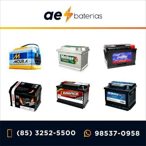 Bateria 75Ah Heliar, Moura e Bosch