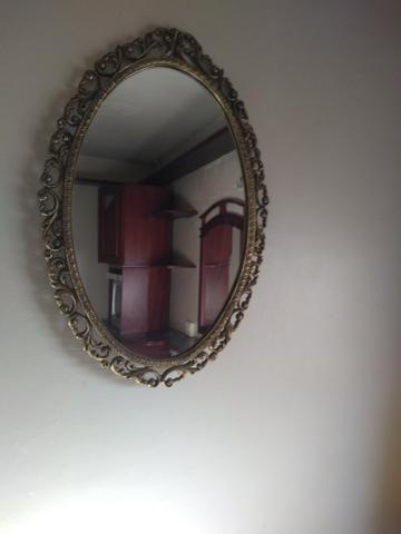 Console em bronze com pedra de mármore, com espelho - Foto 2