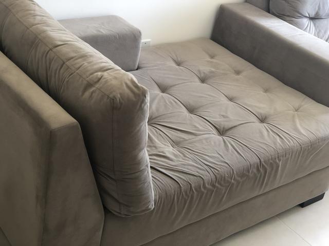 Sofá 3 lugares com chaise - Decore - Foto 3