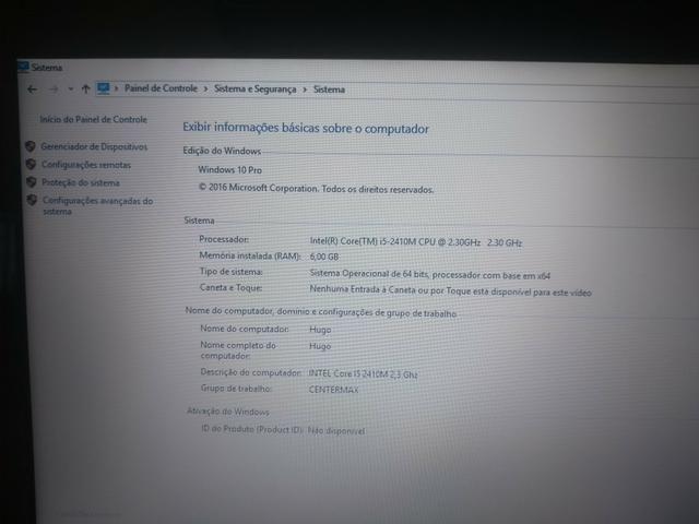 Notebook Asus i5, 6Gb memória - Foto 3