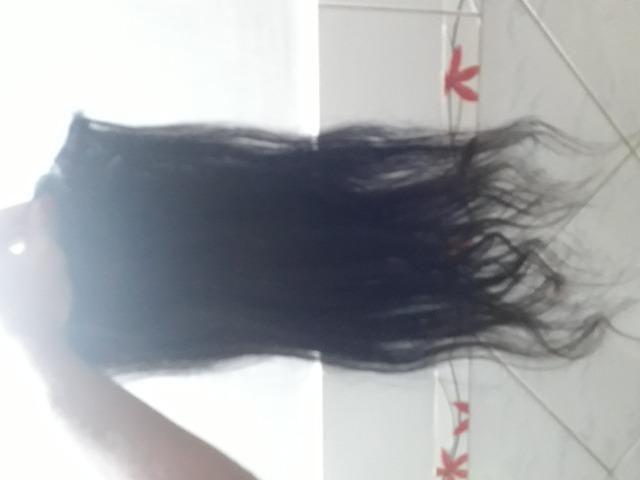 2 telas cabelo humano 60cm - Foto 4