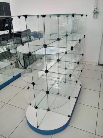 Gôndola de Centro Vidro Modulado Expositor