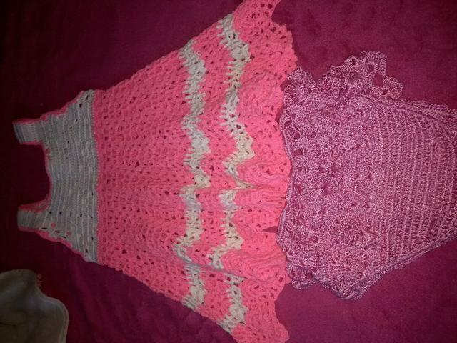 Vende Calcinha E Vestido De Crochê Vete Até Criança De 2 Anos