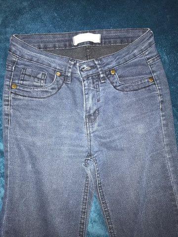 Calça jeans boca de sino tamanho 36