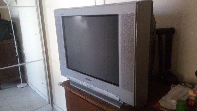 Tv Sony 21 Pol Tela Plana 110v Para Retirada De Peças - Foto 2