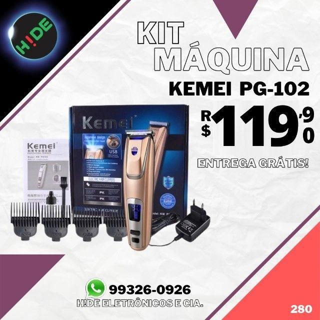 Máquina de cortar cabelo Kemei PG-102 (entrega grátis)