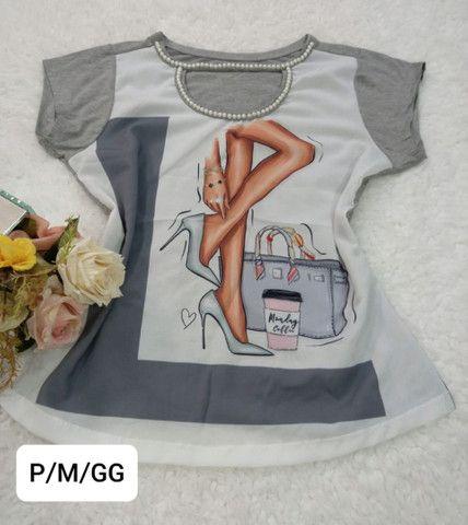 Tshirt com pedraria - Foto 6