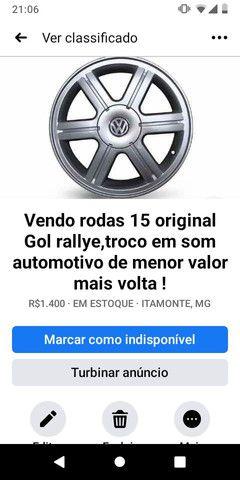 Rodas 15 original Gol rallye