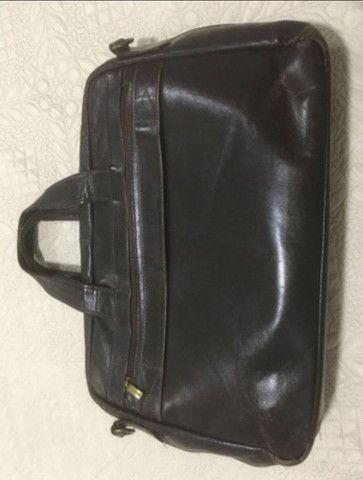 Bolsa para notebook em couro