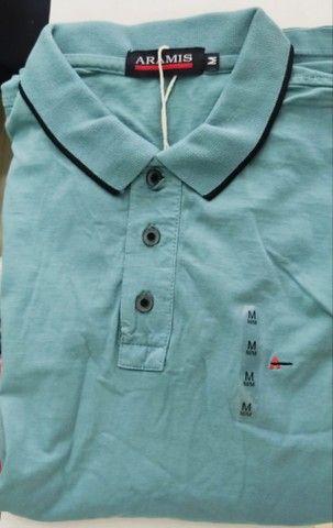 Camisa Gola Polo Aramis ultima tamanho M azul Lacrada - Foto 3