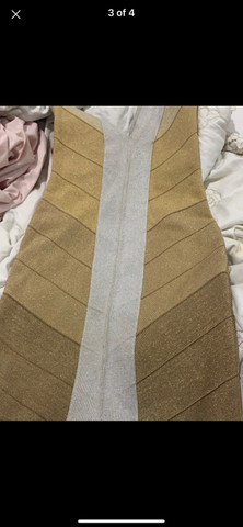 Vestido bandagem dourado - Foto 4