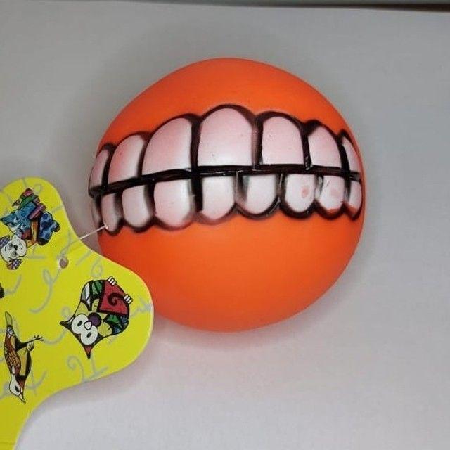 Bolinha Com Dentes Para Cachorro - Sorriso Pet - Foto 2