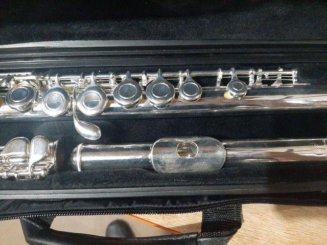 Flauta Transversal Yamaha YFL311 Japonesa - Foto 4