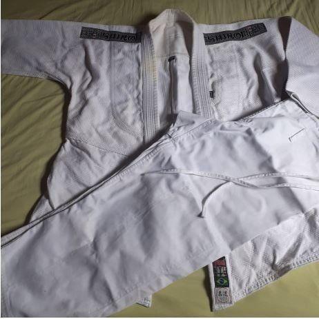 Kimono Judô Trançado Branco Shiroi - Adulto