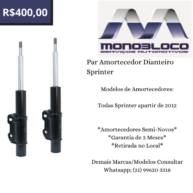 Par Amortecedor Dianteiro Sprinter 415 a 515 2012