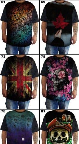 Camisetas plus size G1 G2 G3 G4