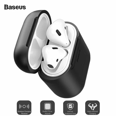Baseus Luxo Caso de Carregamento Sem fio Apple Airpods