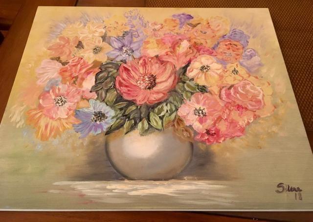 Pintura à óleo La Joie des Fleurs - Foto 2