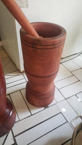 Pilão madeira rústica - Foto 2