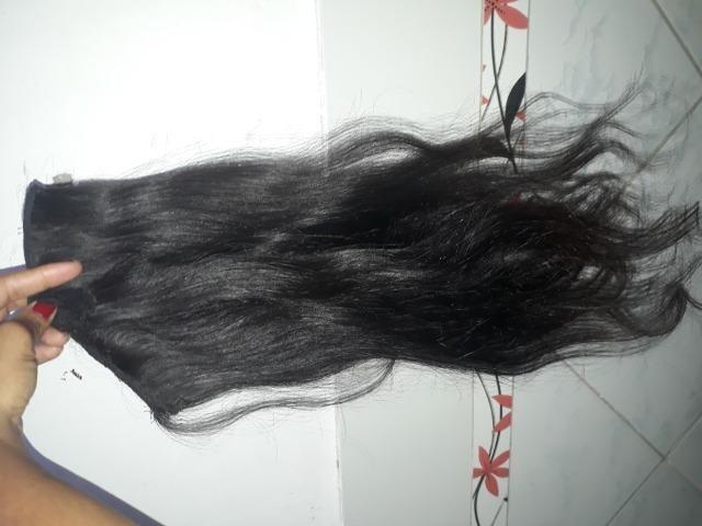 2 telas cabelo humano 60cm - Foto 2
