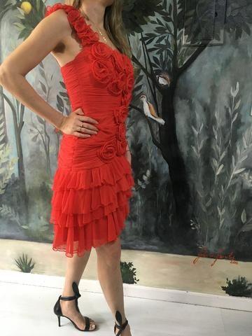 Vestido festa vermelho - Foto 4