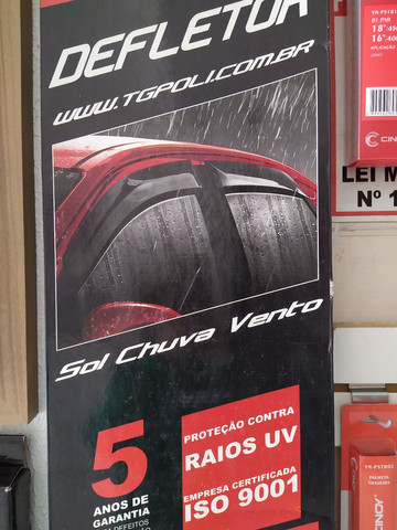 Calha de chuva p/ Honda Civic 09/14, 4 portas. Nova , instalada.