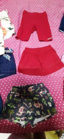 Lote de roupa infantil feminina shorts  - Foto 3