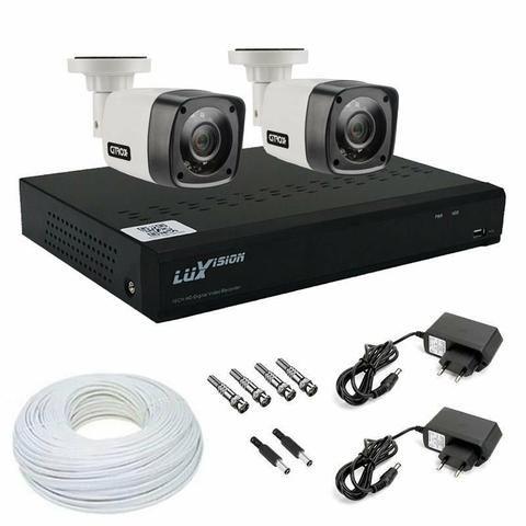 Kit 2 câmeras luxvision instalado