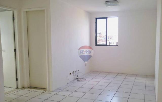 Flat com 1 dormitório para alugar, 38 m² - Poço - Recife/PE - Foto 2