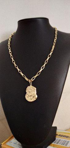 Correntes de fino acabamento banhadas a ouro 18k idêntico a ouro maciço - Foto 4