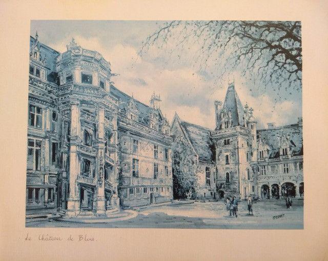 Três litografias de Castelos Franceses - Foto 2