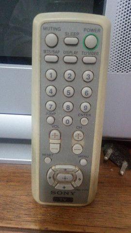Tv Sony 21 Pol Tela Plana 110v Para Retirada De Peças - Foto 4