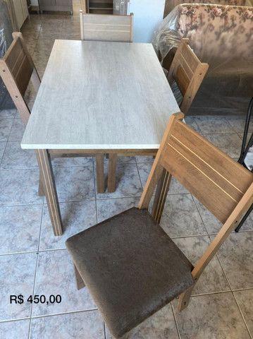 Mesa de jantar com 4 cadeiras - Foto 3