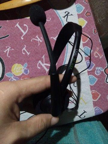 Headset Xbox 360 original. Pouquíssimo usado, sem marcas - Foto 2