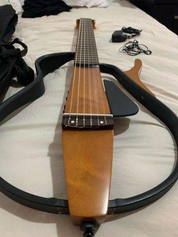Violão Yamaha aberto elétrico silent SLG200NW Nylon - Foto 3