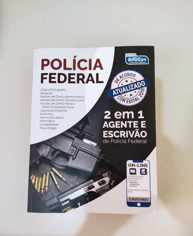 Polícia Federal Agente e Escrivão 2 em 1 Apostila Alfacon - Foto 3