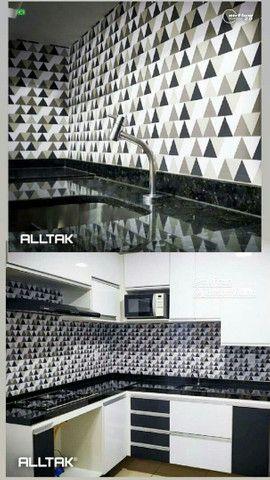 Papel de parede com camada em pvc - Foto 3