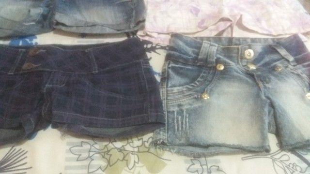 Lotinho de shorts jeans femenino - Foto 4